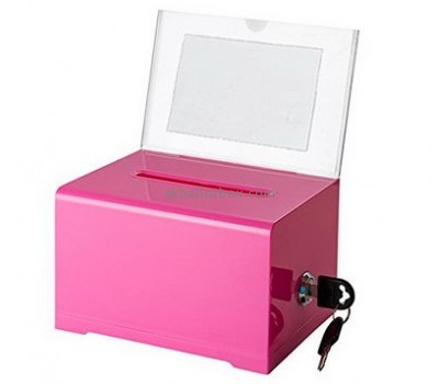 Custom design acrylic company suggestion box locked suggestion box comment suggestion box SB-003