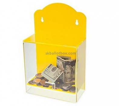 Custom acrylic donation box donation collection box donation box with lock DB-012