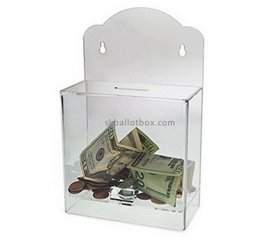 Custom acrylic polycarbonate money donation box large donation box charity boxes for sale DB-014