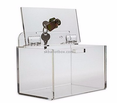 Acrylic products manufacturer custom lucite fabrication large ballot box BB-1172