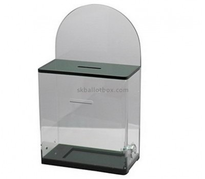 Acrylic plastic supplier custom ballot money collection boxes for charity BB-1204