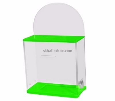 Acrylic display manufacturer custom clear ballot box for sale BB-1206
