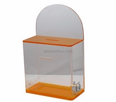 Acrylic display manufacturer custom plastic charity collection ballot boxes BB-1207