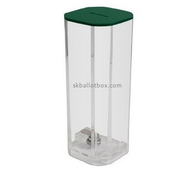 Acrylic manufacturers custom lucite collection boxes for sale BB-1223
