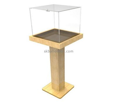 Plastic manufacturers custom acrylic floor standing charity collection boxes BB-1224