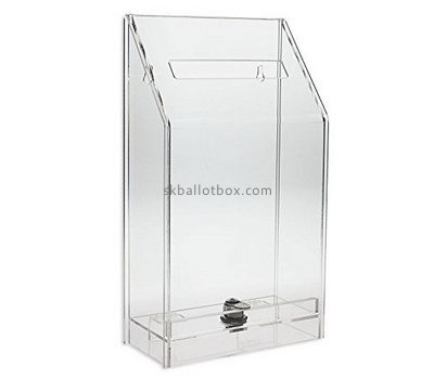 Box factory custom acrylic cheap charity collection boxes for sale BB-1233