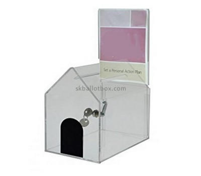 Charity collection boxes suppliers custom acrylic voting box BB-1271