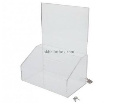 Acrylic products manufacturer custom perspex clear ballot box BB-1272