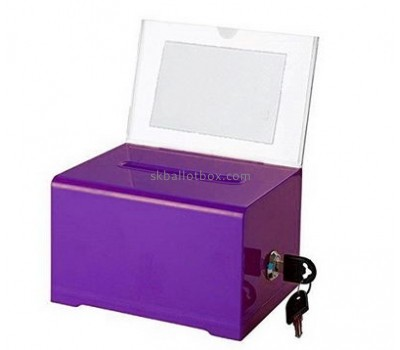 Acrylic box factory custom perspex charity collection boxes for sale BB-1293