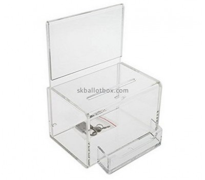 Customized clear acrylic charity donation boxes BB-1385