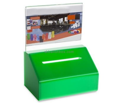 Customized green acrylic collection box BB-1401