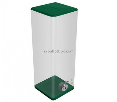 Customized clear acrylic money collection box BB-1421