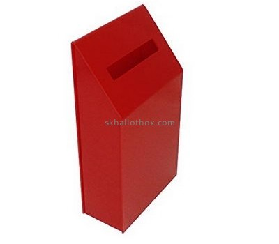 Customized red acrylic donation collection boxes BB-1440