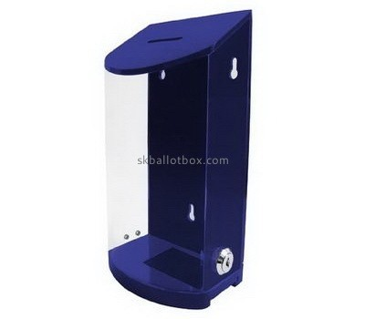 Customized acrylic lockable donation box BB-1451