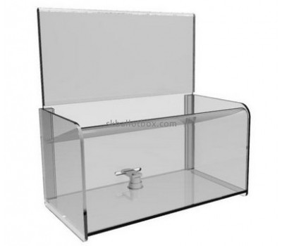 Bespoke lucite raffle ticket collection boxes BBS-1481
