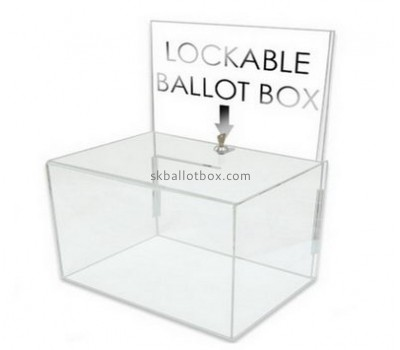 Bespoke transparent lucite money collection box BB-1486