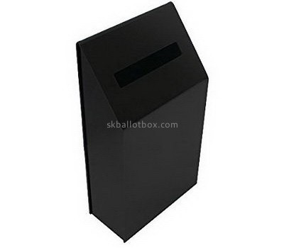 Bespoke black acrylic charity collection boxes for sale BB-1540