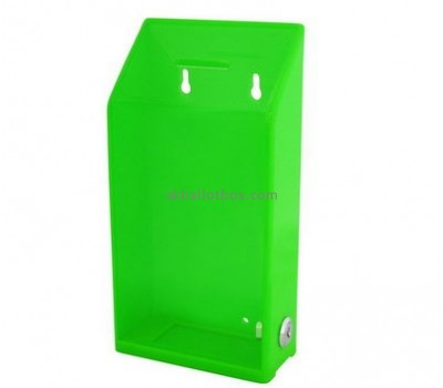 Bespoke green acrylic suggestion box BB-1546