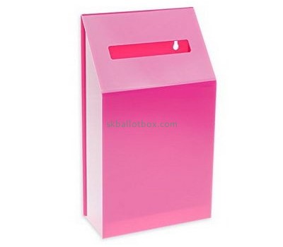 Bespoke pink acrylic lockable suggestion box BB-1555