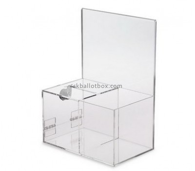 Bespoke clear donation box with lock BB-1683