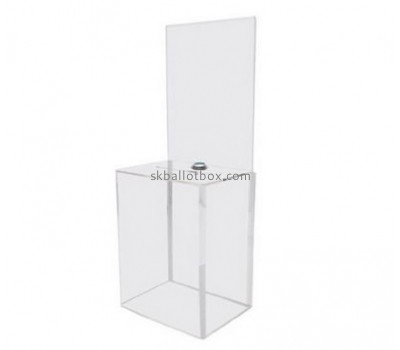 Bespoke clear donation box BB-1680