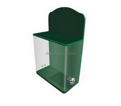 Bespoke acrylic green donation box BB-1711