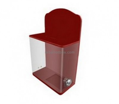 Bespoke lucite red donation box BB-1713