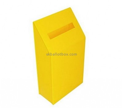Customize yellow acrylic ballot box voting BB-1736