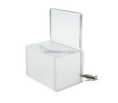 Customize perspex clear ballot box BB-1780