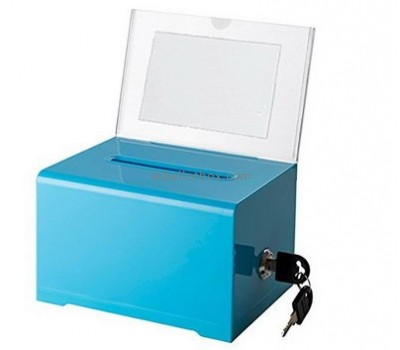 Customize blue acrylic small suggestion box BB-1787