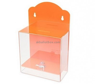 Customize lucite wall mounted donation box BB-1800