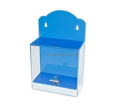 Customize blue wall mounted collection box BB-1805
