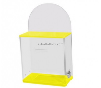 Customize clear lucite ballot box with lock BB-1806