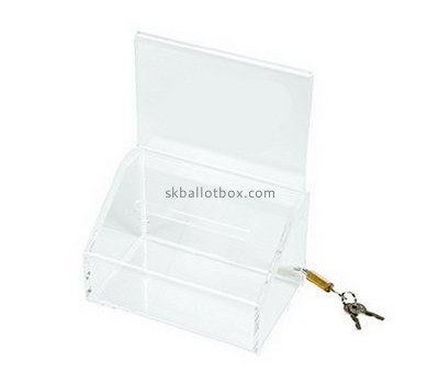 Customize clear acrylic voting ballot box BB-1870