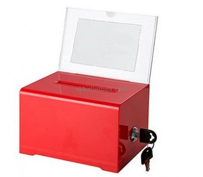 Customize red plexiglass ballot box BB-1885