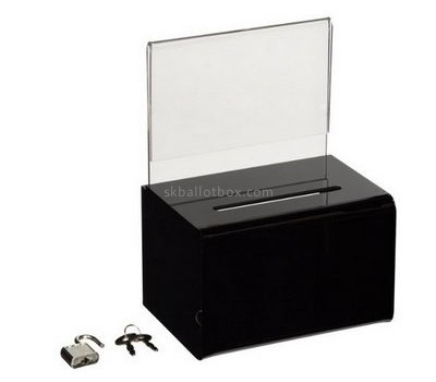 Customize acrylic black ballot box BB-1891