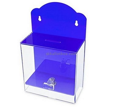 Customize blue wall mounted ballot box BB-1902