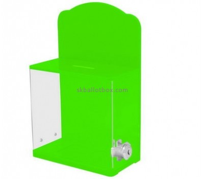 Customize green lockable ballot box BB-1907