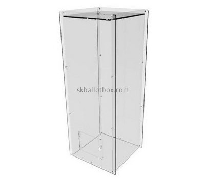 Customize lucite transparent ballot box BB-1917