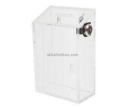 Customize lucite ballot box with lock BB-1927