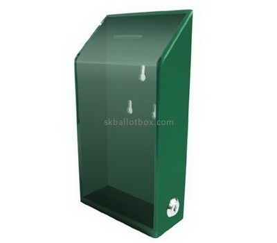 Customize green wall mounted donation box BB-1945