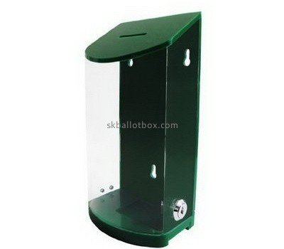 Customize green wall mounted collection box BB-1944