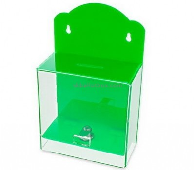 Customize acrylic wall mounted collection box BB-2000
