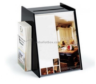 Customize acrylic ballot box with lock BB-2054