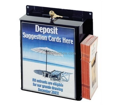 Customize black perspex suggestion box BB-2060