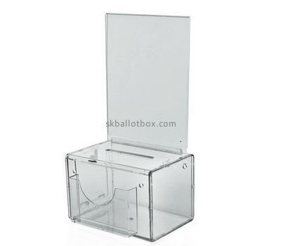Customize clear charity coin collection boxes BB-2163