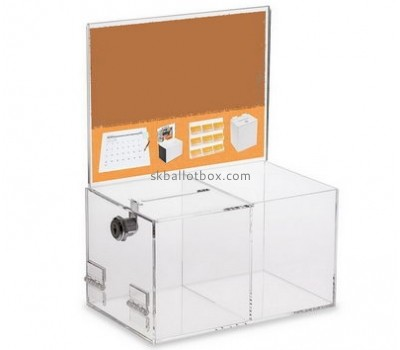 Customize clear charity money collection boxes BB-2165