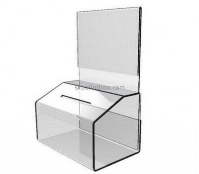 Customize acrylic charity boxes for sale BB-2249