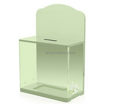 Customize plexiglass money collection boxes for charity BB-2284