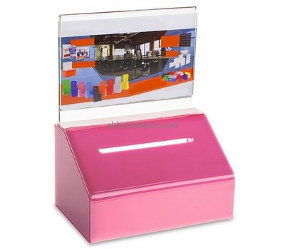 Customize lucite charity donation boxes for sale BB-2356